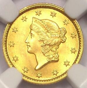 1853 LIBERTY GOLD DOLLAR COIN G$1   NGC MS65    IN MS65   $3 500 VALUE