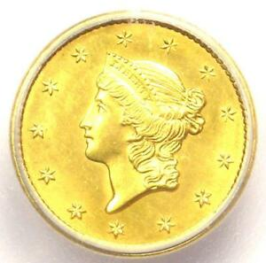 1849 OPEN WREATH LIBERTY GOLD DOLLAR COIN G$1   ICG MS64  BU    $1 680 VALUE