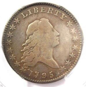 1795 FLOWING HAIR BUST HALF DOLLAR 50C A OVER E   PCGS VG DETAILS    COIN
