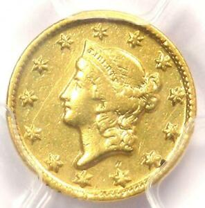 1849 D LIBERTY GOLD DOLLAR G$1   CERTIFIED PCGS XF DETAIL    DAHLONEGA COIN