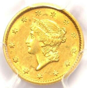1853 LIBERTY GOLD DOLLAR COIN G$1   CERTIFIED PCGS AU55    COIN