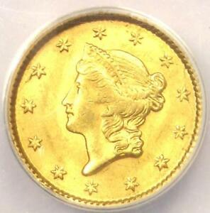 1851 LIBERTY GOLD DOLLAR COIN G$1   ANACS MS62    BU CERTIFIED GOLD COIN