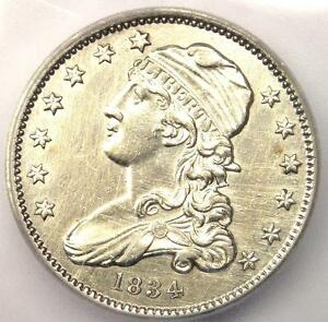 1834 CAPPED BUST QUARTER 25C   CERTIFIED ICG MS60 DETAILS  UNC     IN MS60