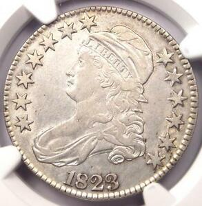 1823 CAPPED BUST HALF DOLLAR 50C O 103   NGC XF DETAILS  EF    NICE LUSTER