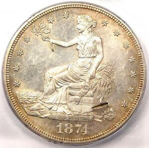 1874 CC TRADE SILVER DOLLAR T$1   ICG MS60 DETAILS  BU UNC    NICE LUSTER