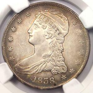 1838 CAPPED BUST HALF DOLLAR 50C   NGC AU DETAILS    CERTIFIED COIN