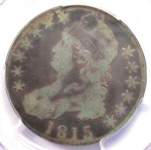 1815/2 CAPPED BUST HALF DOLLAR 50C COIN   PCGS VG DETAILS    OVERDATE