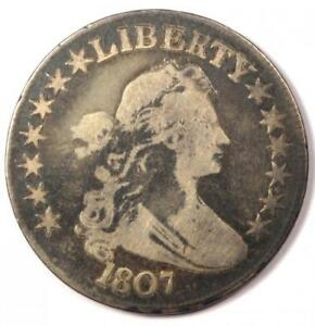 1807 DRAPED BUST HALF DOLLAR 50C   FINE DETAILS CONDITION    EARLY COIN