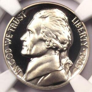 1963 PROOF JEFFERSON NICKEL 5C   NGC PR69 UCAM  PF69 ULTRA CAMEO    $700 VALUE