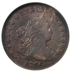 1796 DRAPED BUST DIME 10C   CERTIFIED ANACS VF20 DETAILS    FIRST YEAR COIN