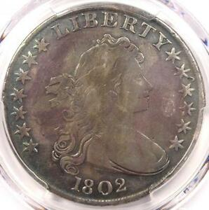 1802 DRAPED BUST SILVER DOLLAR $1 COIN   CERTIFIED PCGS FINE DETAIL