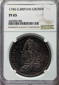 Click now to see the BUY IT NOW Price! NGC HIGHEST GRADE 1746 GREAT BRITAIN GEORGE II PROOF CROWN NGC PF65