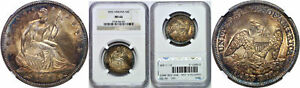 Click now to see the BUY IT NOW Price! 1855 SEATED LIBERTY HALF DOLLAR NGC MS 66 ARROWS