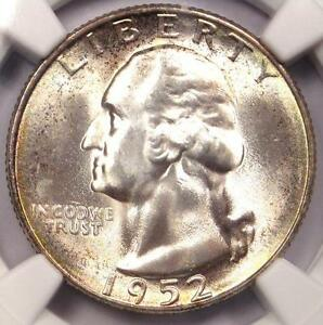 1952 S WASHINGTON QUARTER 25C   CERTIFIED NGC MS67    IN MS67   $200 VALUE