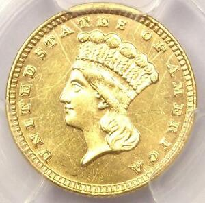 1883 INDIAN GOLD DOLLAR COIN G$1   CERTIFIED PCGS AU DETAILS    DATE