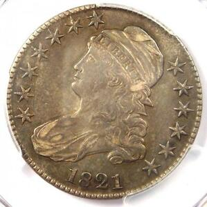 1821 CAPPED BUST HALF DOLLAR 50C   PCGS XF40  EF40  PQ    CERTIFIED COIN