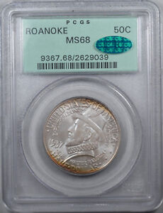Click now to see the BUY IT NOW Price! 1937 50C ROANOKE SILVER COMMEMORATIVE PCGS MS68 OGH CAC VIRGINAL MINT LUSTER