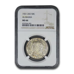 Click now to see the BUY IT NOW Price! 1921 2X2 ALABAMA CENTENNIAL COMMEMORATIVE HALF DOLLAR MS 66 NGC   SKU170867