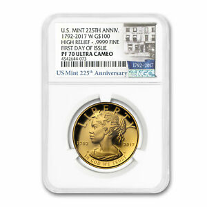 Click now to see the BUY IT NOW Price! 2017 HIGH RELIEF AMERICAN LIBERTY GOLD PF 70 NGC  FIRST DAY    SKU170827
