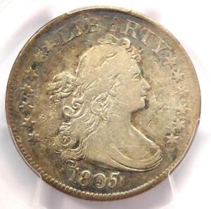 1805 DRAPED BUST QUARTER 25C COIN   CERTIFIED PCGS FINE DETAILS    COIN