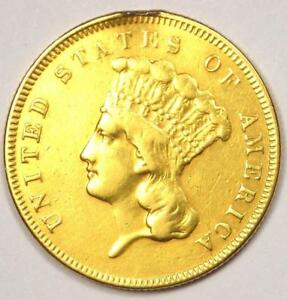 1855 INDIAN THREE DOLLAR GOLD COIN  $3    XF DETAILS  EF     COIN