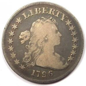 1796 DRAPED BUST SILVER DOLLAR $1  SMALL EAGLE    FINE DETAILS    COIN