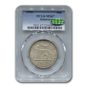 Click now to see the BUY IT NOW Price! 1936 DELAWARE TERCENTENARY HALF DOLLAR MS 67 PCGS CAC   SKU171714