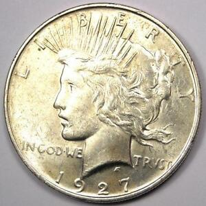 1927 D PEACE SILVER DOLLAR $1   EXCELLENT CONDITION   NICE LUSTER    DATE