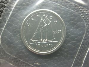 Click now to see the BUY IT NOW Price! 2007 CANADIAN PROOFLIKE DIME  $0.10    CURVED