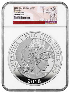 Click now to see the BUY IT NOW Price! 2018 GREAT BRITAIN 1 KILO SILVER BRITANNIA 500 COIN NGC GEM PROOF SKU54666