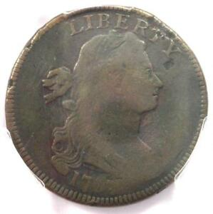 1797 S 124 DRAPED BUST LARGE CENT 1C R5   PCGS VG DETAILS   RARITY 5 VARIETY