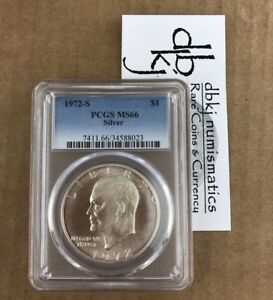 1972 S EISENHOWER IKE SILVER DOLLAR PCGS MS66