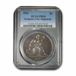 Click now to see the BUY IT NOW Price! 1836 GOBRECHT LIBERTY SEATED DOLLAR ORIGINAL ALIGNMENT PR 30 PCGS   SKU155995