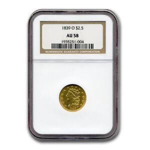 Click now to see the BUY IT NOW Price! 1839 O $2.50 GOLD CLASSIC HEAD AU 58 NGC   SKU175027