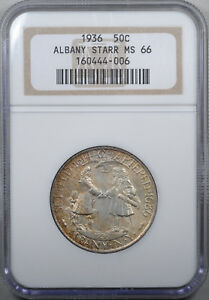 1936 ALBANY COMMEMORATIVE NGC MS66 TAB TONED OLD HOLDER FETCHED $3 520 IN 1993