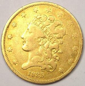 1835 GOLD HALF EAGLE $5   SHARP DETAILS    EARLY CLASSIC GOLD COIN