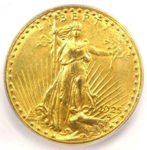 1925 S SAINT GAUDENS GOLD DOUBLE EAGLE $20 COIN   ICG AU58   $8 060 VALUE
