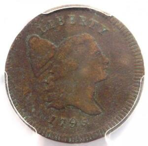 1795 LIBERTY CAP FLOWING HAIR HALF CENT 1/2C  LETTERED EDGE     PCGS VF DETAILS