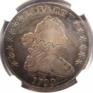 1799 DRAPED BUST SILVER DOLLAR $1 COIN   CERTIFIED NGC VF DETAIL