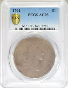 Click now to see the BUY IT NOW Price! 1794 FLOWING HAIR DOLLAR  PCGS AG03