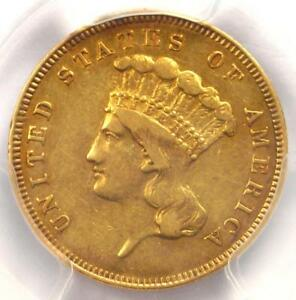 1862 THREE DOLLAR INDIAN GOLD COIN $3   CERTIFIED PCGS XF DETAILS    DATE