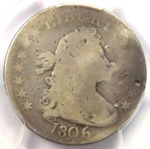 1806 DRAPED BUST QUARTER 25C   PCGS GOOD DETAILS    EARLY CERTIFIED COIN