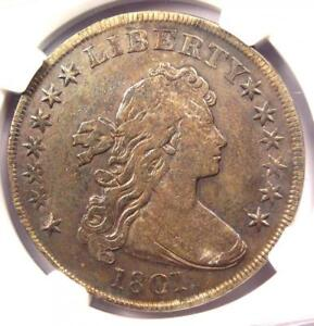 1801 DRAPED BUST SILVER DOLLAR $1   CERTIFIED NGC FINE DETAILS    COIN