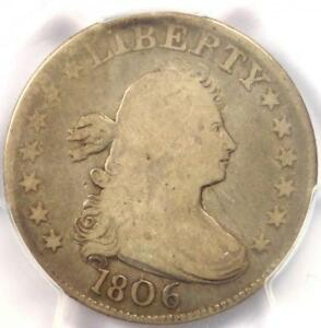 1806 DRAPED BUST QUARTER 25C B 4   PCGS VG8    CERTIFIED COIN   $700 VALUE