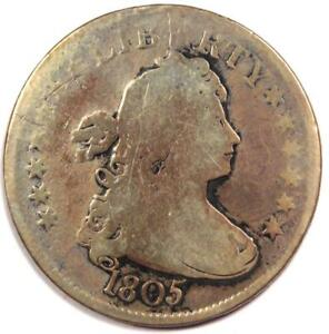 1805 DRAPED BUST QUARTER DOLLAR 25C   VG DETAILS    EARLY COIN