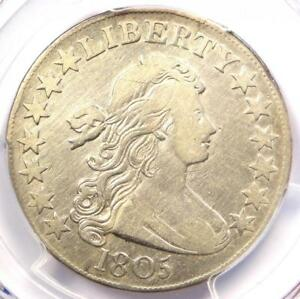 1805 DRAPED BUST HALF DOLLAR 50C O 112   PCGS VF DETAILS    CERTIFIED COIN