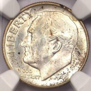 1946 D ROOSEVELT DIME 10C   CERTIFIED NGC MS67 FT    IN MS67 FB   $144 VALUE