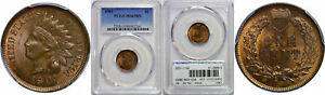 1901 INDIAN HEAD CENT PCGS MS 65 BN