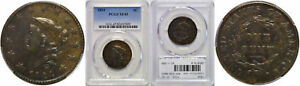 1824 LARGE CENT PCGS XF 45