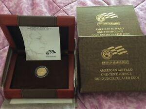 2008 W AMERICAN BUFFALO ONE TENTH OUNCE GOLD UNCIRCULATED
